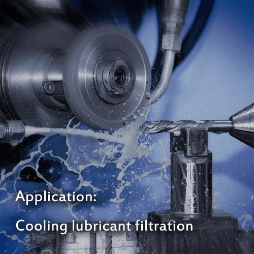Belt filter cloth for cooling lubricants filtration