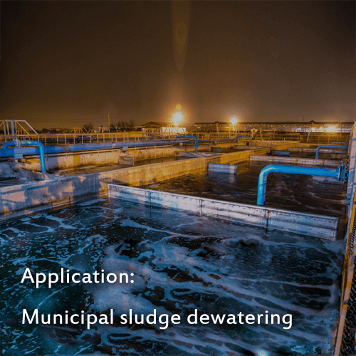 Filter Belts for municipal sludge dewatering