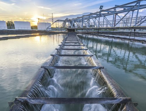 How is municipal sewage treated?