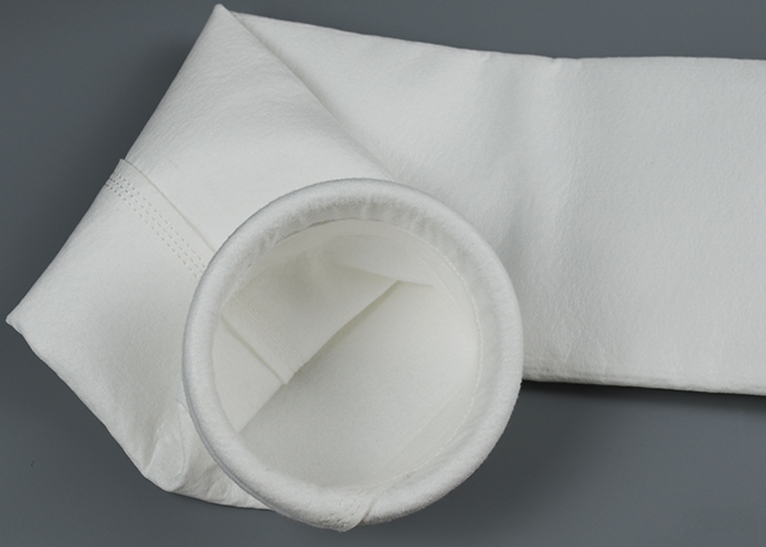 Polyester needle felt for baghouse filter bag